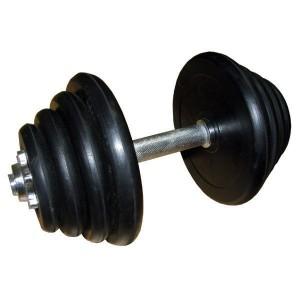 Гантель разборная 20 LB черная резина (~10 кг)