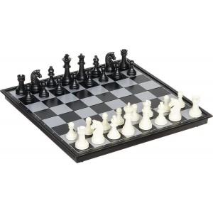 Игра 3в1 (шашки+шахматы+нарды), магнитная доска 24х24см, высота короля 4.4 см