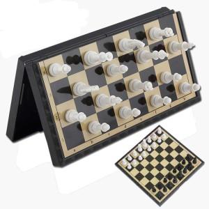 Игра 3в1 (шашки+шахматы+нарды), магнитная доска 25*25см