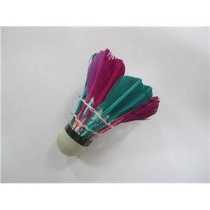 Волан FC-11, перо цветное, 12шт