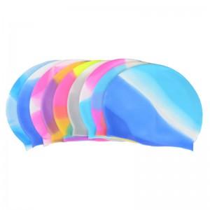 Шапочка для плавания многоцветная