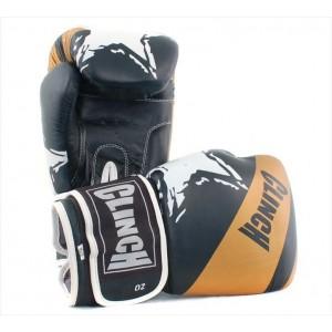 Перчатки для бокса Clinch кожаные, 12 унций, черные