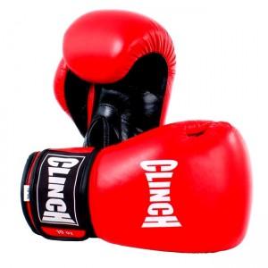 Перчатки для бокса Clinch 10 унций, красные