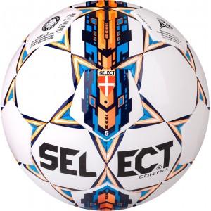 Мяч для футбола Select Super Brilliant №5, белый с оранжевым, бутиловая камера
