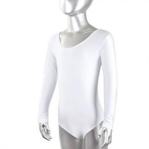Купальник гимнастический белый, лайкра, р.M-4XL