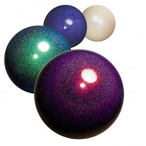Мяч для художественной гимнастики с глиттером, диаметр 15 см