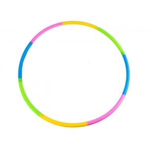 Обруч гимнастический пластиковый радуга, диаметр 60 см