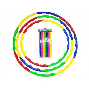 Обруч пластиковый разборный, d 70 см, 8 секций