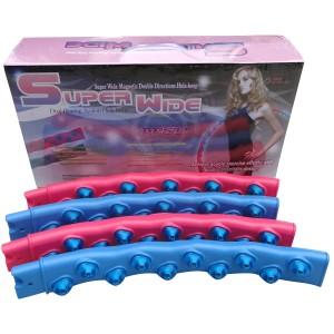 Обруч разборный SUPER WIDE, пластиковый с магнитными массажными  элементами в 2 ряда