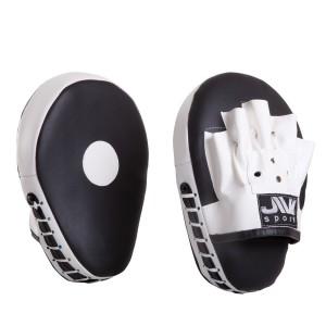 Лапы для бокса гнутые Е077, искусственная кожа, черно-белые