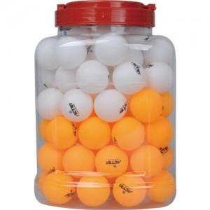 Мячи для настольного тенниса BALL 1 звезда, 72шт в банке, белые.. Желтые. бесшовные