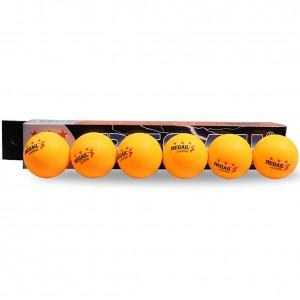 Мячи для настольного тенниса BALL 2 звезды, 6шт, белые.. Желтые. Бесшовные