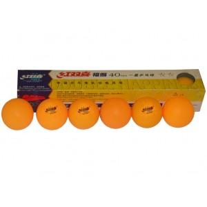 Мячи для настольного тенниса BALL 3 звезды, 6шт, белые.. Желтые. Бесшовные