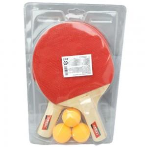Набор для настольного тенниса 2 ракетки +3 шарика   в блистере  №6701