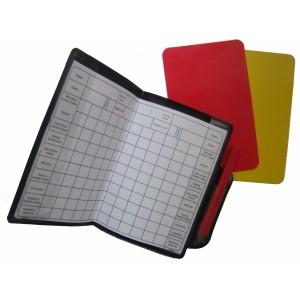 """Набор карточек для футбольного арбитра (карандаш, карточка """"жёлтая"""", карточка """"красная"""", блокнот)"""