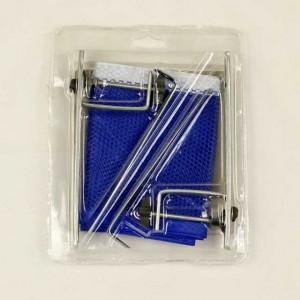 Сетка для для настольного тенниса, синяя, с металлическими стойками, в блистере