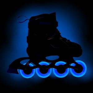 Раздвижные роликовые коньки Fantom Blue LED+ подсветка колес (S (30-33)34-37.38-41)