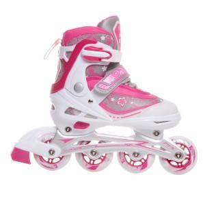 Раздвижные роликовые коньки Gloss pink (L (38-41)34-37. 30-33)