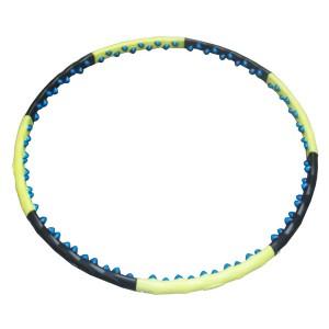 Обруч массажный разборный, 8 частей, 80 силиконовых массажных магнитных вставок в 2 ряда, 2кг