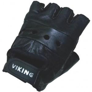 Перчатки атлетические без пальцев, натуральная кожа
