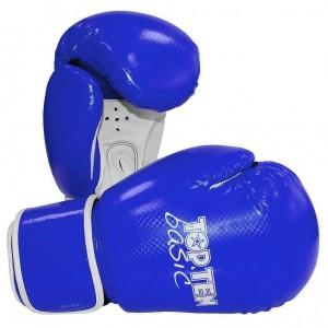 Перчатки бокс TOP TEN Basic Economy R2M Line, 10 унц., сине-белые