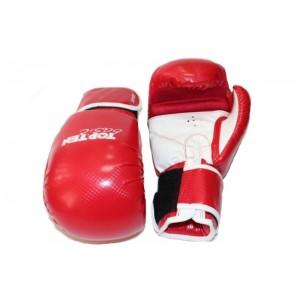 Перчатки бокс TOP TEN Basic иск. кож, 8 унц.синие,красный