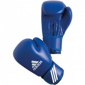 Перчатки боксерские ADIDAS с AIBA.натуральная кожа высшего качества, наполнитель – пенополиуретан.на