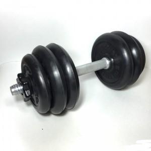 Гантель разборная 15 кг черная резина (~15 кг)