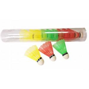 Волан пластиковый, цветной.уп 12шт