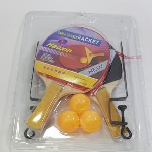 Набор для настольного тенниса Haoxin 2 ракетки + 3 шарика, сетка со стойками, в блистере
