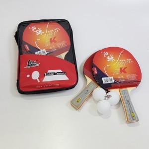 Набор для настольного тенниса 2 ракетки + 3 шарика, чехол красный