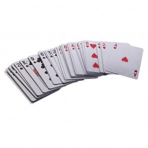 Карты для игры в покер пластиковые Gold класс Люкс, 54 листа (144шт в уп)
