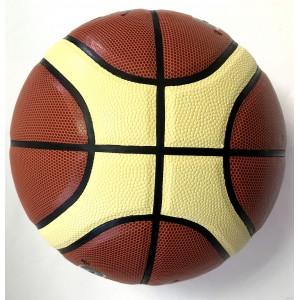 Мяч для баскетбола Sport №7, вес 640-650гр, коричневый с желтыми полосами