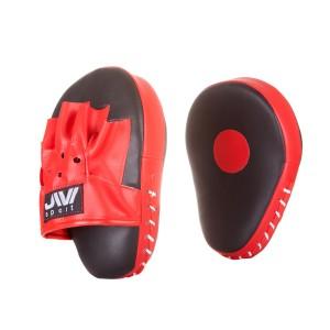 Лапы для бокса гнутые JIVIsport Е056, искусственная кожа, черно-красные
