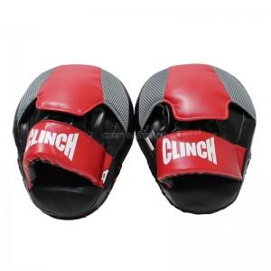 Лапы тренировочные Clinch  26*20*5cм, гнутые, кожа