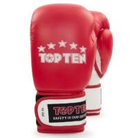 Перчатки для бокса Top Ten класса А 12 унций красные