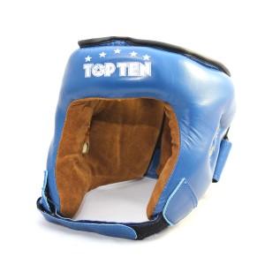 Шлем для бокса Top Ten M. Подбородок фиксируется липучкой.Усиленная защита в области ушей.