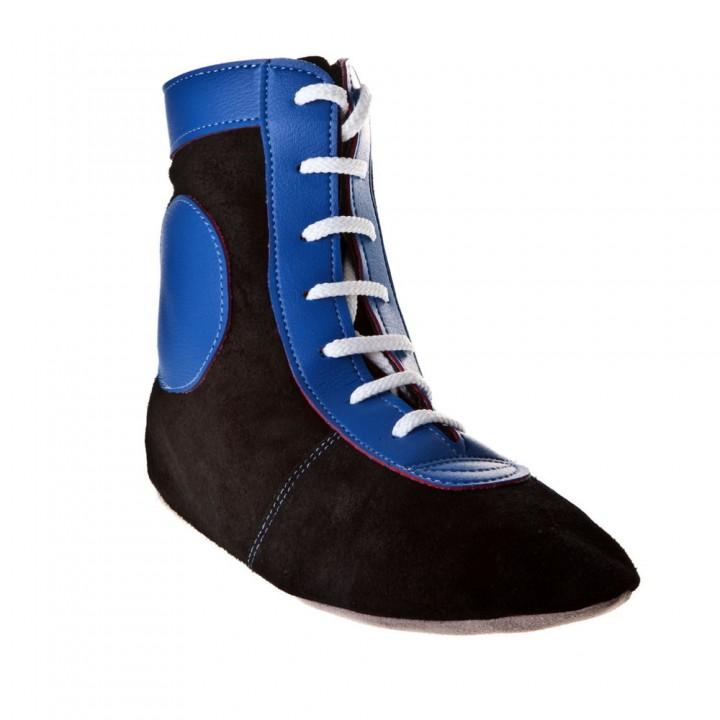 Самбовки замшевые сине-черные