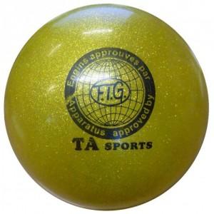 """Мяч для художественной гимнастики с глиттером """"TA sport"""" диаметр 19 см"""