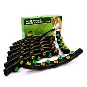 Обруч массажный Hoop Double Grace Magnetic, разборный из 8 частей, 64 массажных пластины с шариками
