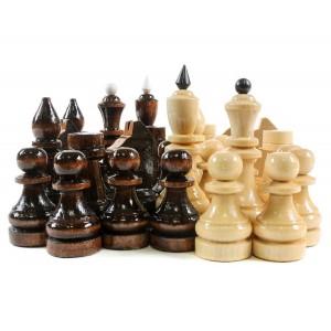Шаматные фигуры деревянные малые, высота короля 5.5см