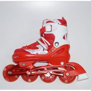 Раздвижные роликовые коньки красные, размеры 30-33, 34-37, 38-41