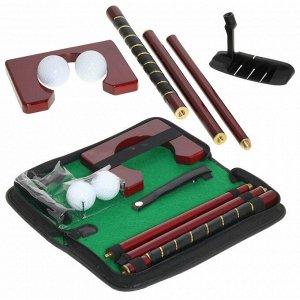 Игра гольф в сумочке на молнии (металлическая сборная клюшка, 2 мяча, мишень)