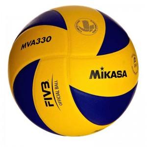 Мяч для волейбола Mikasa MVA330, FIVB, Appr, сине-желтый